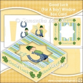 Good Luck (For A Boy) Window Box Card