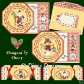 Snowman and Santa Tag Cards with Cracker Box