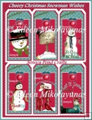 Cheery Christmas Snowman Tag Set
