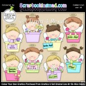 Garden Angels Potted ClipArt Graphic Collection
