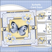 Butterfly Card Front & Insert Panel