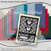 Damask Design Sheets (Darks)