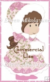 Cutie Pie Snow Girl Clipart Commercial Use Okay