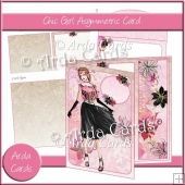 Chic Girl Asymmetric Card