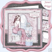 AT THE DRESSING TABLE 7.5 Decoupage & Insert Kit
