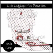 Little Ladybugs Mini Pizza Box