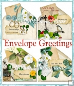 Cottage Chic Envelope Collage Toppers