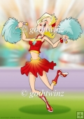Cheerleader Dudess (red) A4
