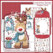 Kringleandco Reindeer Shaped Card