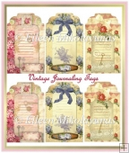 Cottage Chic Floral Journaling Tag Set