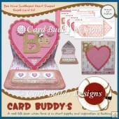 Bee Mine Scalloped Heart Shaped Easel Card Kit
