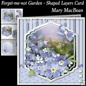 Forget-me-not Garden - Shaped Layers Card