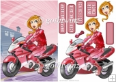 Biker Chick Pink With Matching Insert