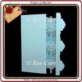 553 Frilly Open Border Card *Multiple MACHINE Formats*