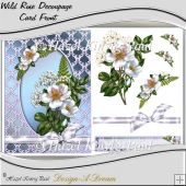 Wild Rose Decoupage Card Front/Topper