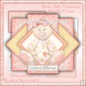 Baby Girl Triangle Pop Up Card