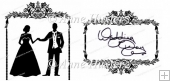 Ornate Wedding Framed Couple - SVG