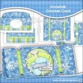 Snowfolk Christmas Cracker Card Download