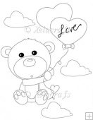 Bear with Love Balloons