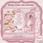 All Occasions Verse & Dusky Pink Roses 8x8 Decoupage Kit