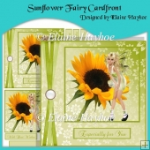 Sunflower Fairy Cardfront with Decoupage