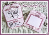 Cottage Chic FRIENDSHIP/MEMORIES Easel Card