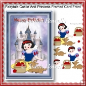 Fairytale Castle And Princess Framed Card Front