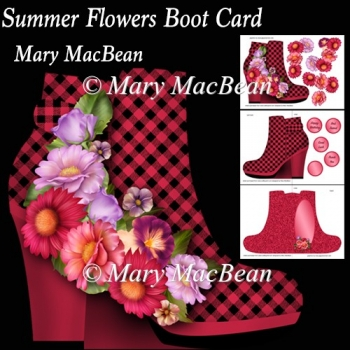 Summer Flowers Boot Card