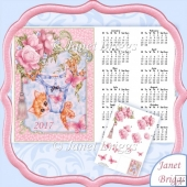 KITTY IN G STRING 2017 A4 UK Calendar with Decoupage Kit