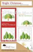 DL Snow Tree/Landscape Card - Red & Green