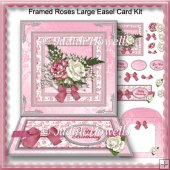 Framed Roses Large Easel Card Kit