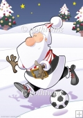 Football Santa Dude (red and White Stripes) A4