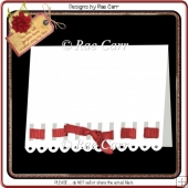 195 Ribbon Border Card *Multiple MACHINE Formats*
