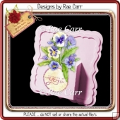 907 Shaped Frame Box Card *Multiple MACHINE Formats*