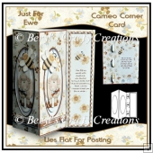 Cameo Corner Card - Just For Ewe