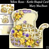Yellow Roses - Kettle-Shaped Card