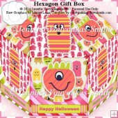 Hexagon Gift Box-Halloween Ghosts 2