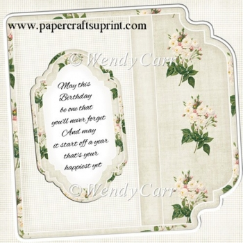 Square Fancy Edges Card Front -(Retiring in August)