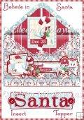 Believe in Santa Christmas Envelope Insert / Topper