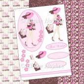 Pink Maternity Leave Decoupage
