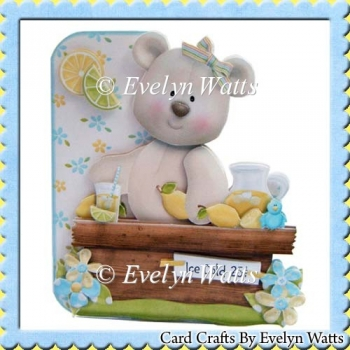 Lifes Lemons Bear Shaped Fold Card Kit