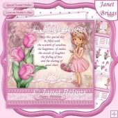 TULIP GIRL Easter Birthday Mother's Day Decoupage & Insert Kit