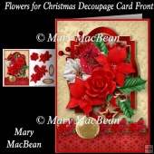 Flowers for Christmas Decoupage Card Front