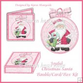 Joyful Christmas Santa Bauble_Card_Box Kit