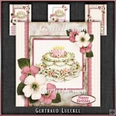 Vintage Stripes and Flowers Card Kit 1069