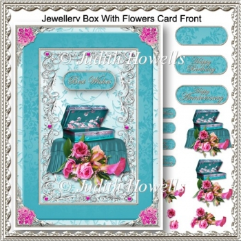 Jewellery Box With Flowers Card Front