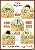 Season of Love Envelope Shape Card Toppers Set