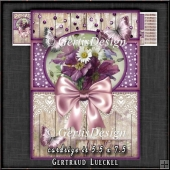 Vintage Card Topper Kit Purple 1369