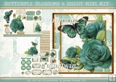 BUTTERFLY BLOSSOMS 4 SHEET MINI KIT Aqua