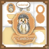 Hedgehog Easel card set